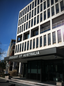 embassy of Australia internship marketing education